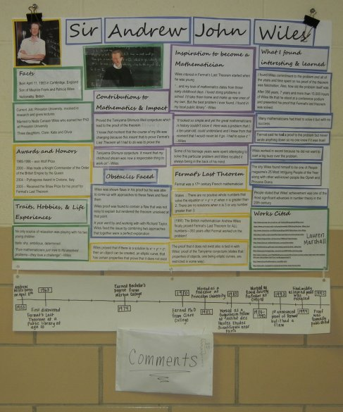 Student Poster about Andrew Wiles