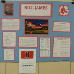 Student Poster about Bill James