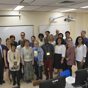 Group picture of participants in 2-day workshop at BMCC, Aug 2017.