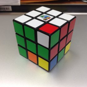 Image of Rubik's Cube with twisted corner.