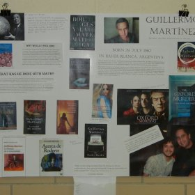 Poster about Guillermo Martinez