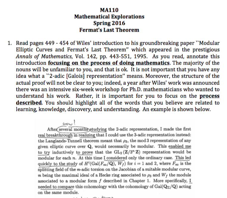 fermats last therom essay Fermat's last theorem has had a lasting impact on mathematics because the  a  p the argument isn't as long as it looks, as you'll see from the summary at the.